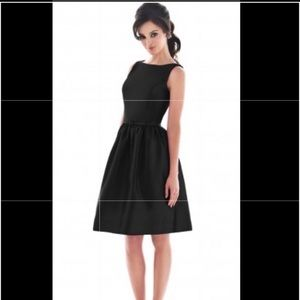 Alfred Sung Black Bridesmaid D488 Dress